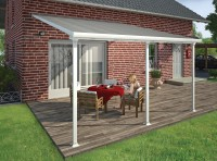 Pergola Feria Patio kit 4000 White Clear 4m x 1.8m x 2.1m image