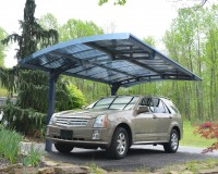 Metal Carport Arizona 5000 Wave - Two-Post Design by Palram image