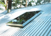 600x1200 fixed colonial skylights  metal deck vented image