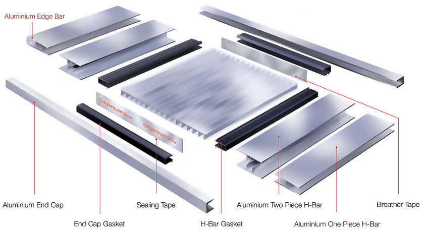 Laserlite Multiwall Aluminium Two Piece H Bar Jr Store