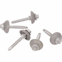 CLEARFIX Screw & 26mm Grey Dome Seal (50/50) - 12 x 65mm image