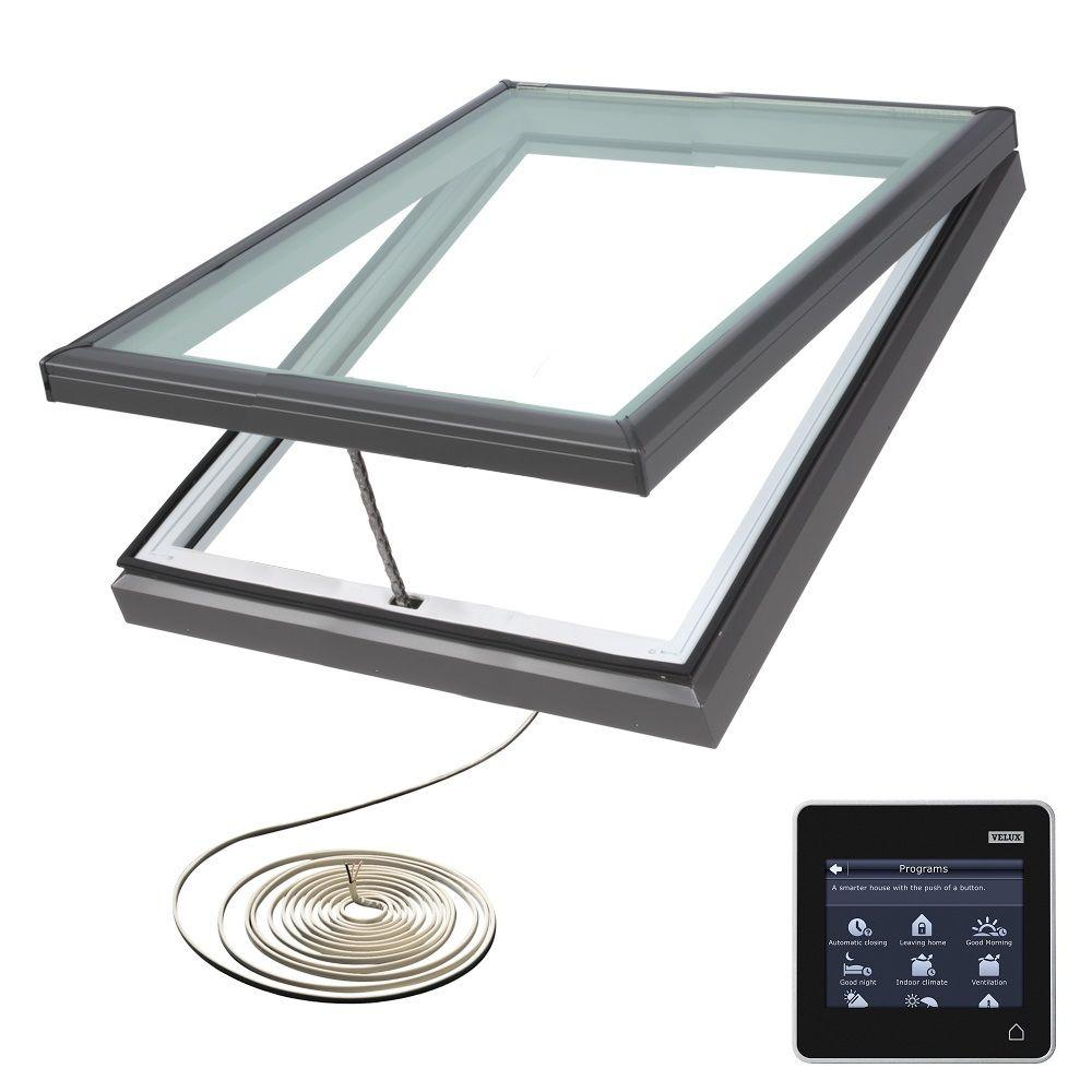 Velux 870 X 870mm Electric Flat Roof Skylight